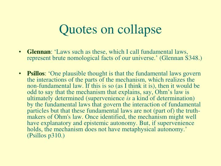Quotes on collapse