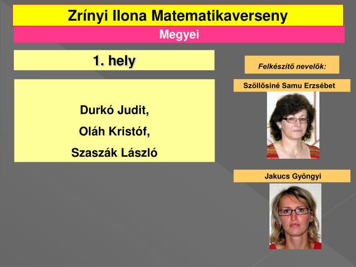 Zrínyi Ilona Matematikaverseny