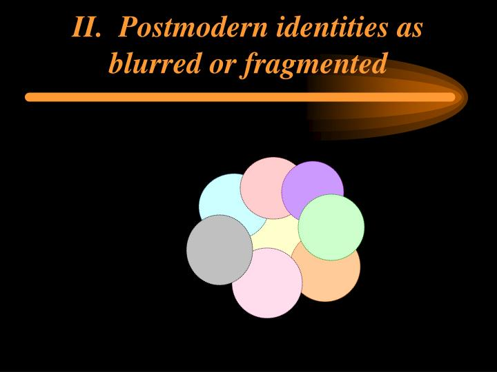 II.  Postmodern identities as blurred or fragmented