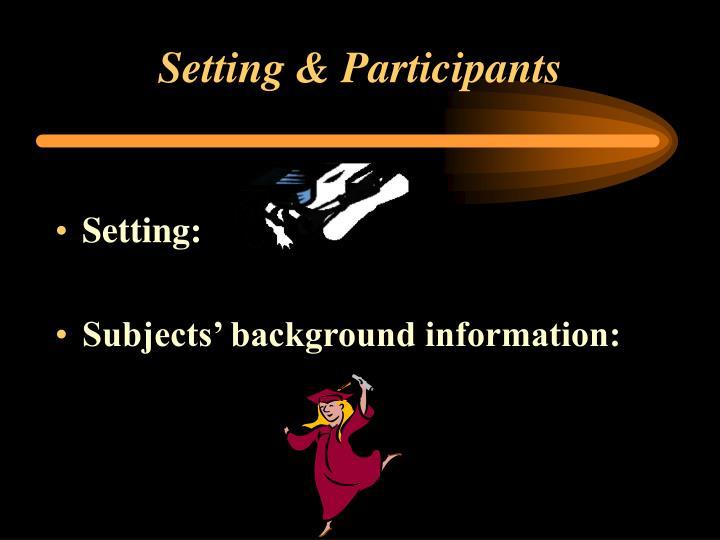 Setting & Participants