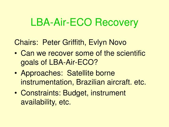 LBA-Air-ECO Recovery