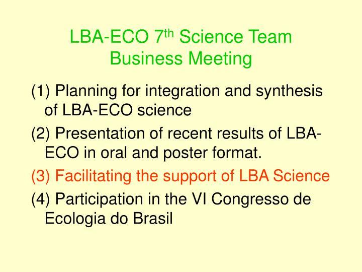 LBA-ECO 7