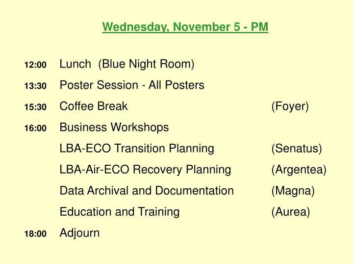 Wednesday, November 5