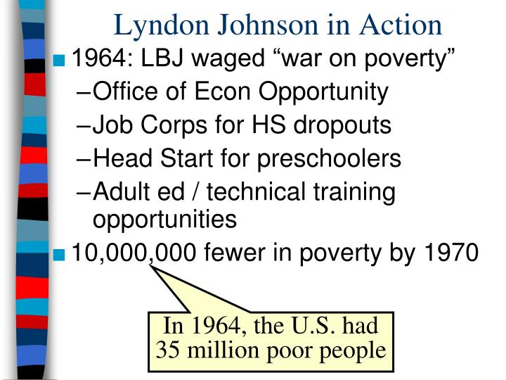 Lyndon johnson in action