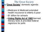 the great society