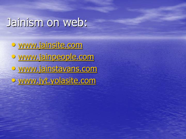 Jainism on web: