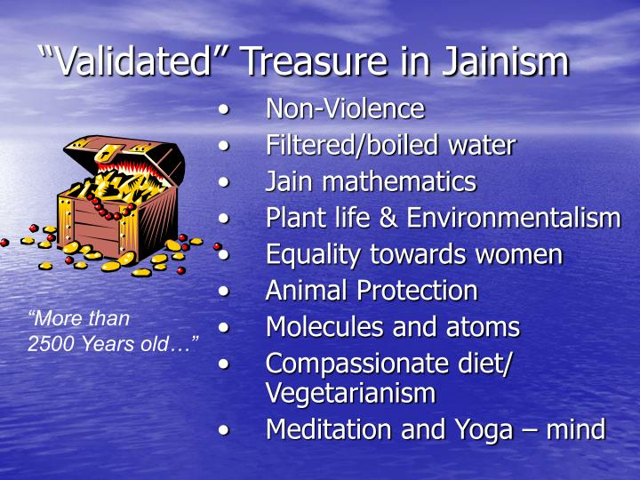 """Validated"" Treasure in Jainism"
