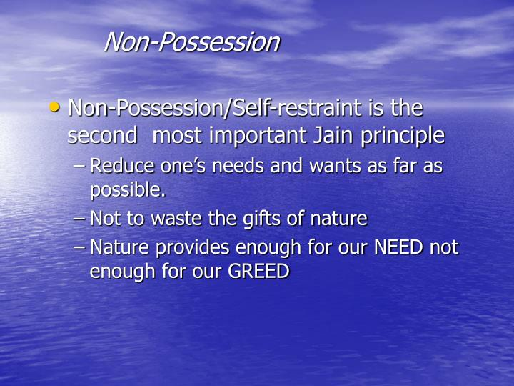 Non-Possession