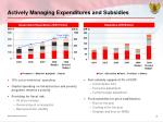actively managing expenditures and subsidies