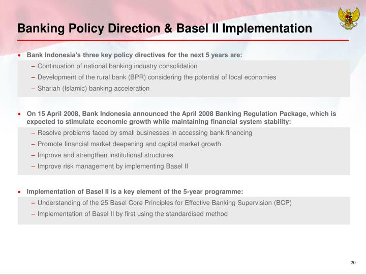 Banking Policy Direction & Basel II Implementation