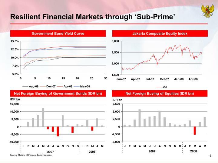 Resilient Financial Markets through 'Sub-Prime'