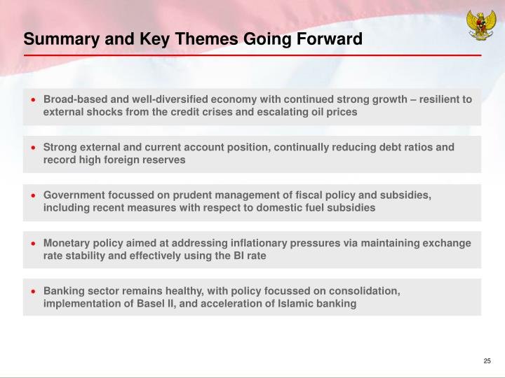 Summary and Key Themes Going Forward