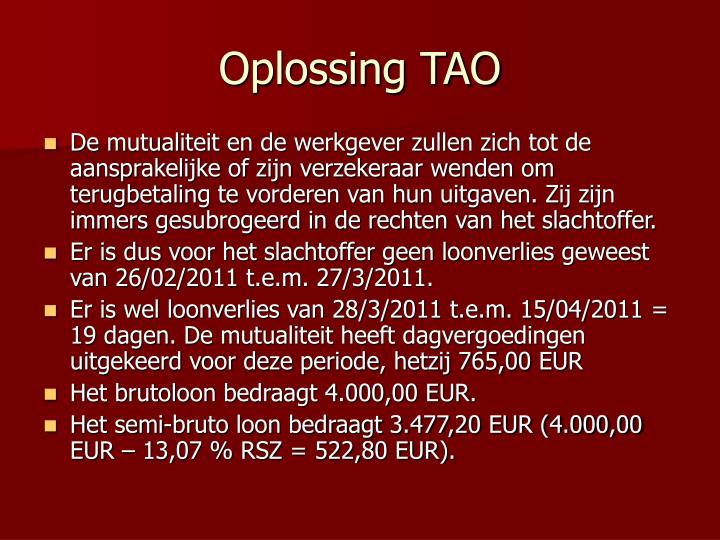 Oplossing TAO