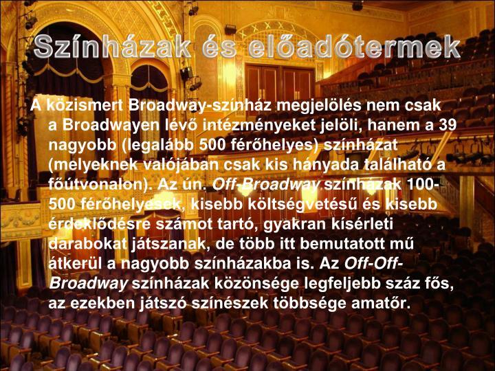 Színházak és előadótermek