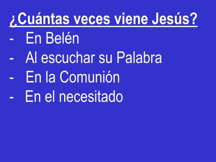 ¿Cuántas veces viene Jesús?