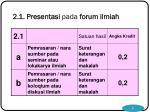 2 1 presentasi pada forum ilmiah