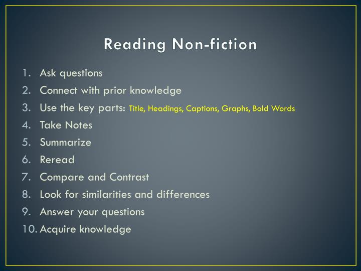 Reading Non-fiction