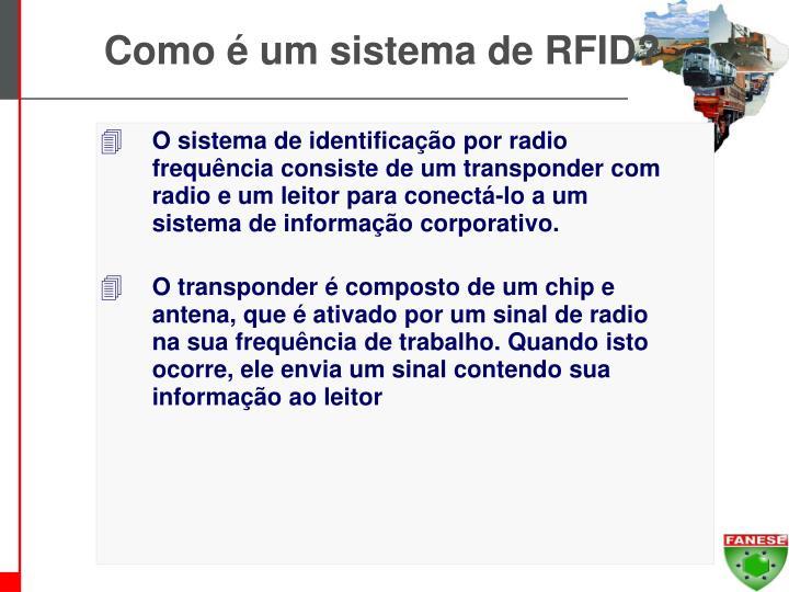 Como é um sistema de RFID?