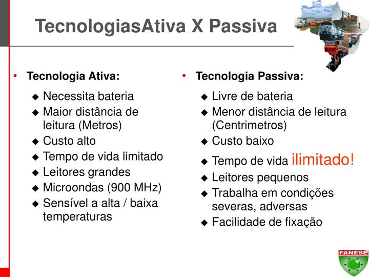 TecnologiasAtiva X Passiva