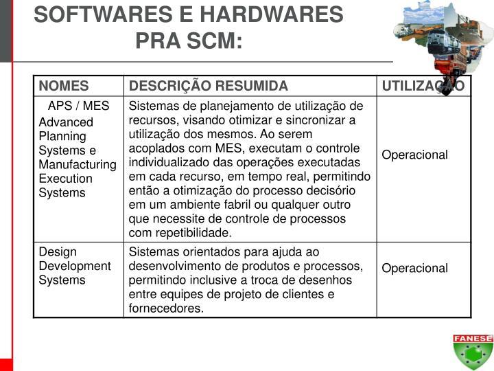 SOFTWARES E HARDWARES