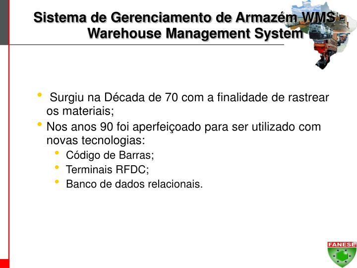 Sistema de Gerenciamento de Armazém WMS - Warehouse Management System