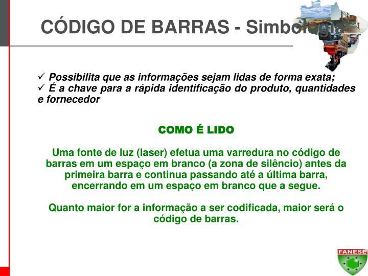 CÓDIGO DE BARRAS - Simbologia