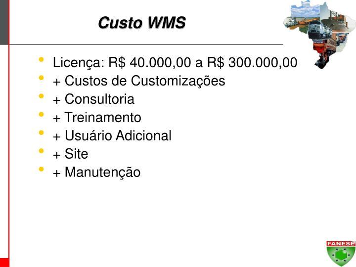 Custo WMS