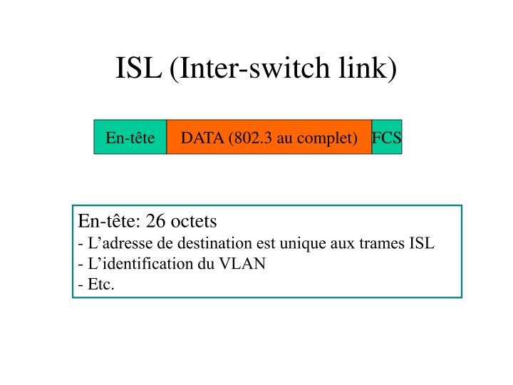 ISL (Inter-switch link)