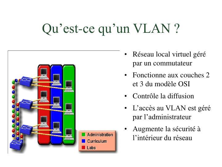 Qu'est-ce qu'un VLAN ?