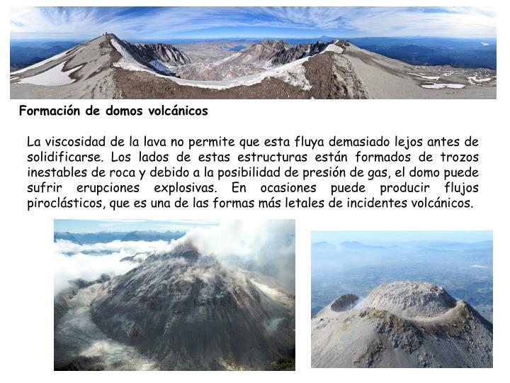 Formación de domos volcánicos
