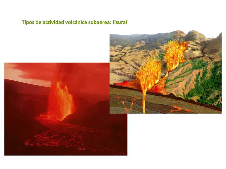 Tipos de actividad volcánica