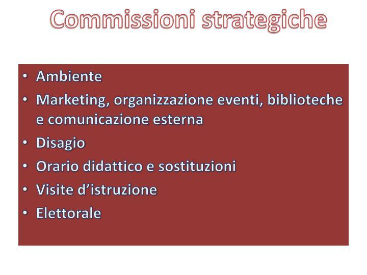 Commissioni strategiche