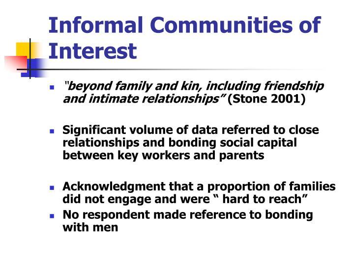 Informal Communities of Interest