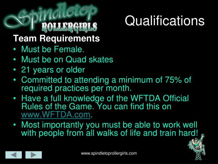 Qualifications