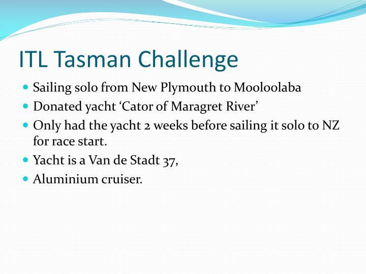 ITL Tasman Challenge