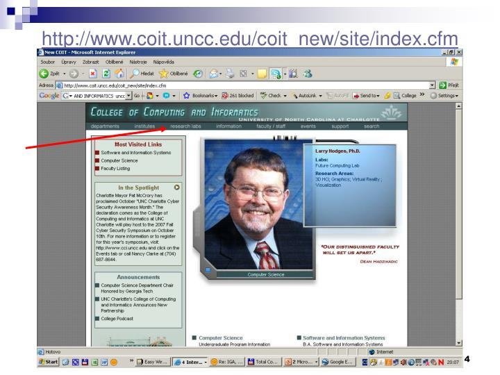 http://www.coit.uncc.edu/coit_new/site/index.cfm