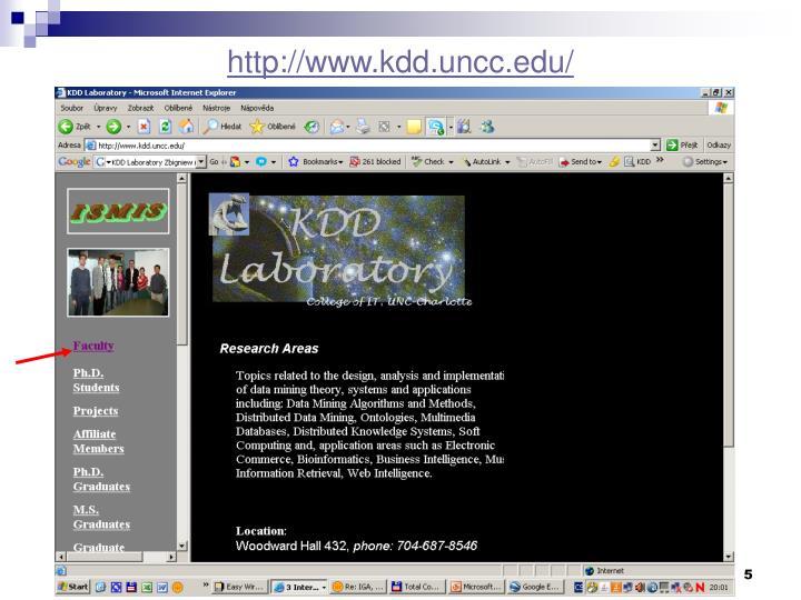 http://www.kdd.uncc.edu/