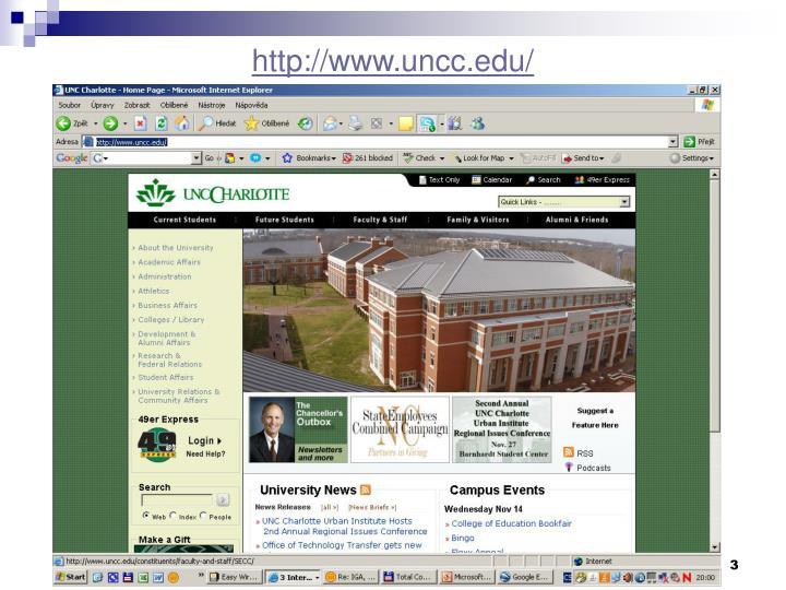 http://www.uncc.edu/