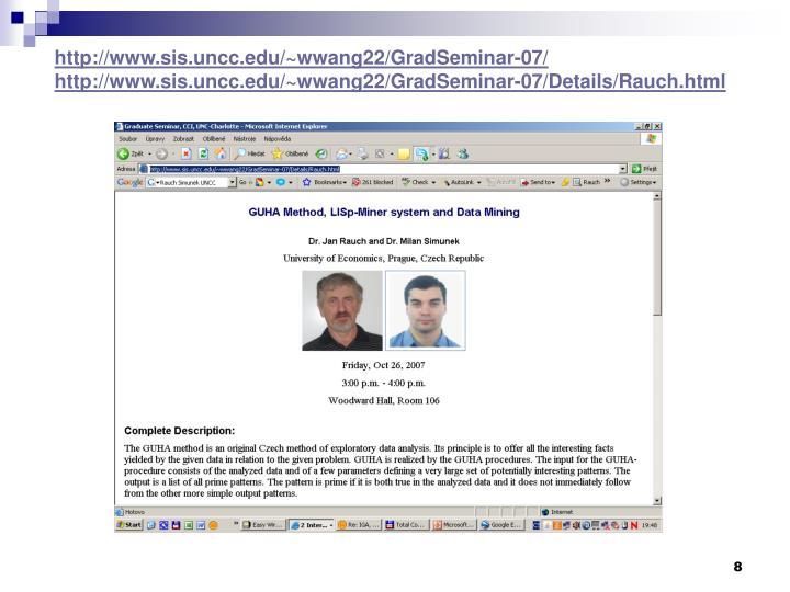 http://www.sis.uncc.edu/~wwang22/GradSeminar-07/