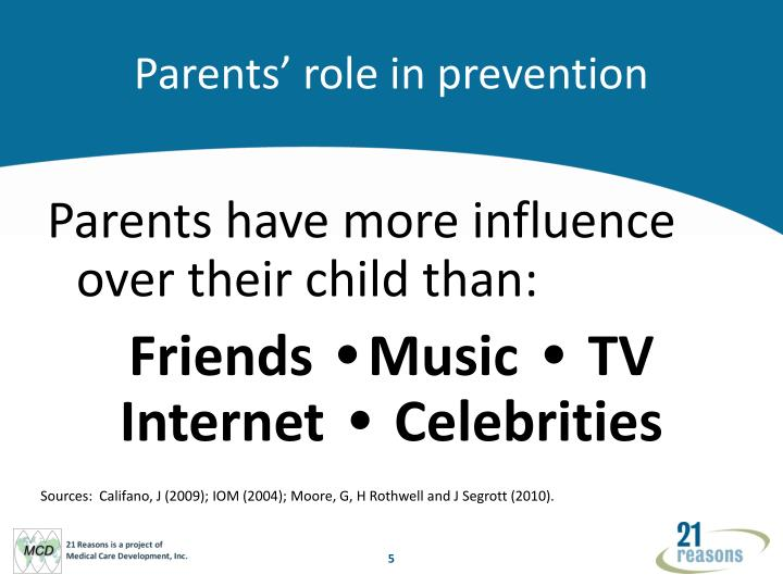 Parents' role in prevention