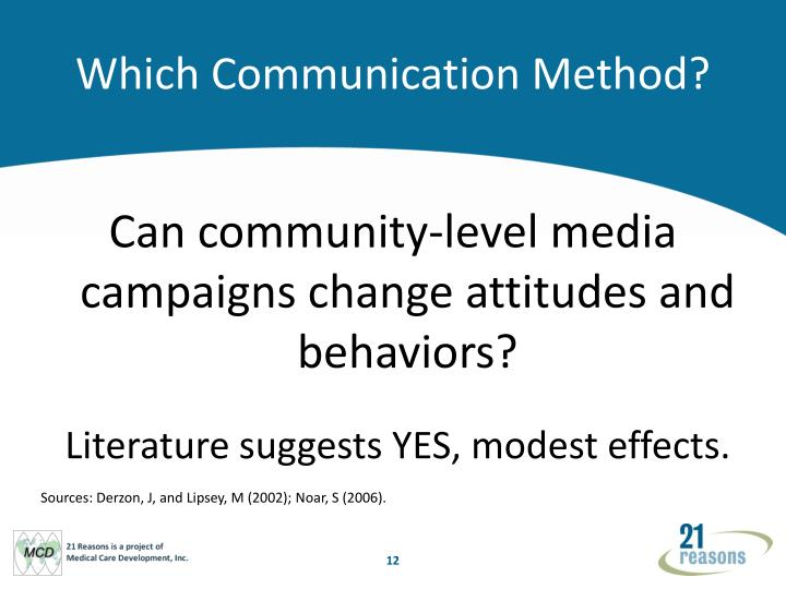 Which Communication Method?