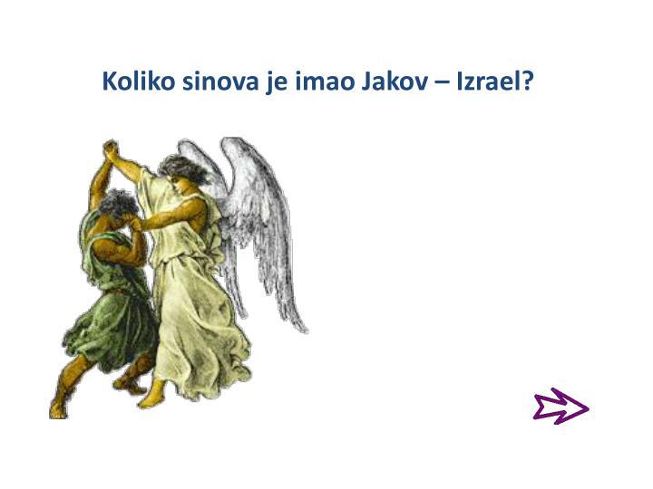 Koliko sinova je imao Jakov – Izrael?