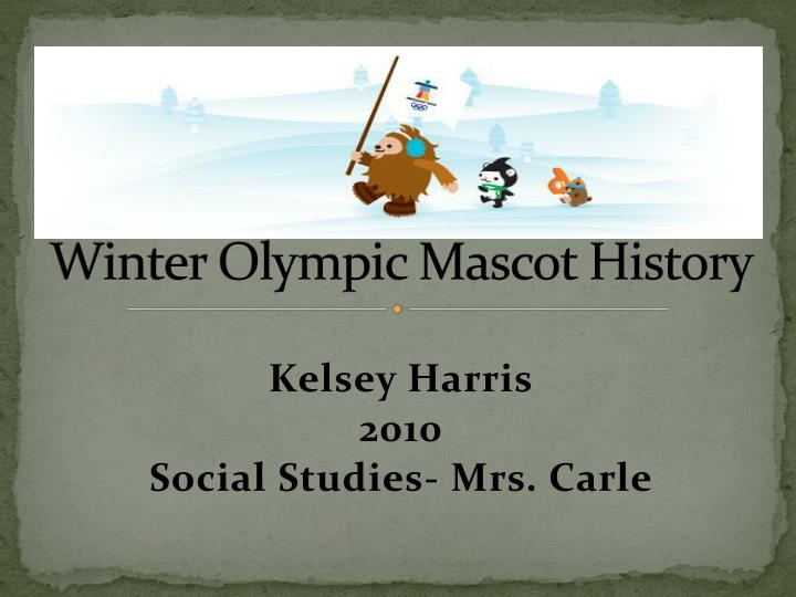 Winter Olympic Mascot History