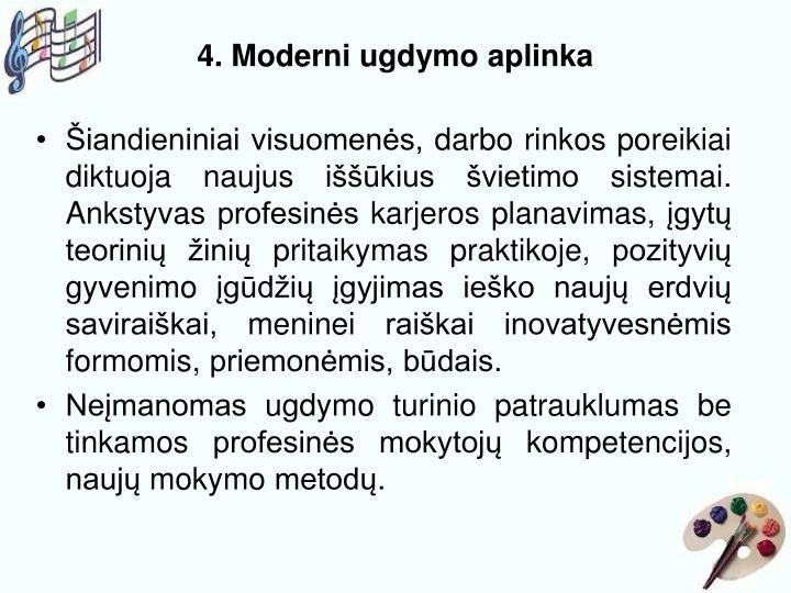 4. Moderni ugdymo aplinka