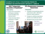 example of cycle 1 volunteer projects 1