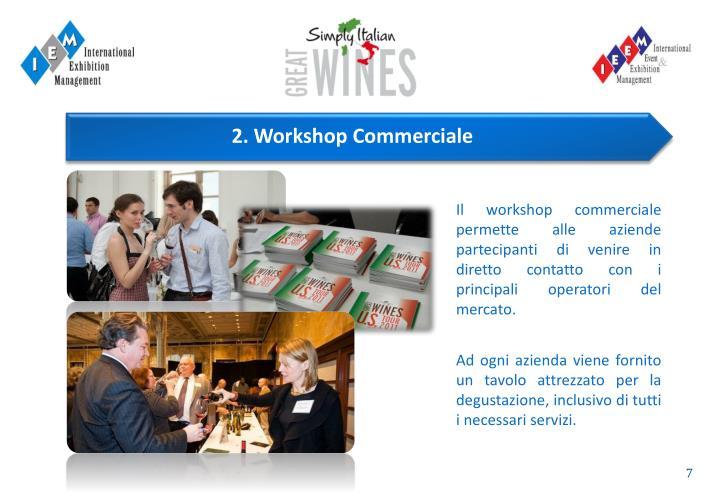 Il workshop commerciale permette alle aziende partecipanti di venire in diretto contatto con i principali operatori del mercato.