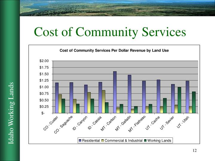 Cost of Community Services