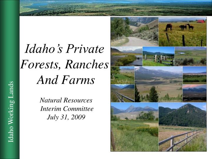 Idaho's Private