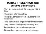 market research mail surveys advantages