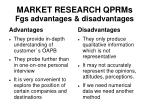 market research qprms fgs advantages disadvantages
